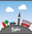 london big ben double decker bus taxi telephone vector image vector image