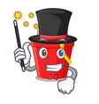 magician beach bucket in string shape mascot vector image