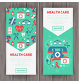 Medical banners templates in trendy flat style vector image vector image