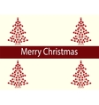 Merry Christmas balls tree garland vector image vector image