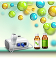 Molecules Health Improvement Composition vector image vector image