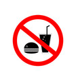 no food no drink sign red thin line on white vector image
