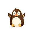 north pole penguin sitting on bottom and laughing vector image