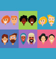 people face icon man and woman emotions vector image vector image