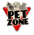 pet zone vintage rusty metal sign vector image vector image