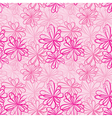pink flowers seamless 380 vector image vector image
