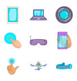 pocket device icons set cartoon style vector image vector image