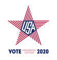 presidential election 2020 in usa election voting vector image vector image