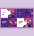 purple halloween night event party invitation vector image