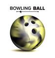 realistic bowling ball classic round ball vector image vector image