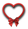 red 3d heart sign on white vector image vector image