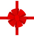 red bow icon vector image vector image
