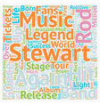 Rod Stewart Tickets quot the Mod quot Returns To vector image vector image
