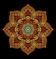 round symmetric mandala vector image