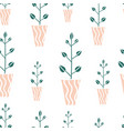 seamless pattern with cute hand drawn flowes vector image vector image