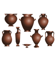 set of amphorae vector image