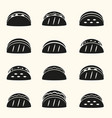 set of black tortilla tacos food icons set eps10 vector image vector image