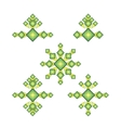 Set rhombus logo vector image vector image