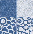 set seamless pattern with sea elements vector image