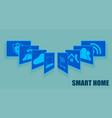 Sign the card fansmart home set vector image