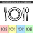 simple outline transparent tableware icon on vector image