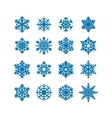 Snowflakes icon collection vector | Price: 1 Credit (USD $1)