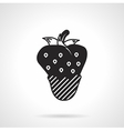 Strawberry dessert black icon vector image
