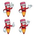 Talking cartoon pencils set vector image vector image