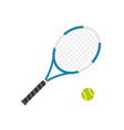 tennis racket with ball flat vector image