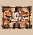 thanksgiving typography greeting card cute vector image