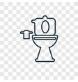 toilet concept linear icon isolated on vector image