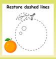 trace game for children cartoon orange restor vector image