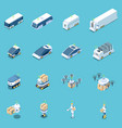 unmanned vehicles icons collection vector image vector image