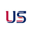us - abbreviation united states america vector image vector image