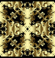 vintage gold 3d baroque seamless pattern vector image vector image