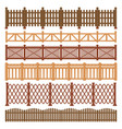 wood fence wooden gates garden and farm house vector image