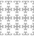 Flowers geometric seamless pattern 1207 vector image