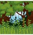 jungle landscape background isolated icon design vector image