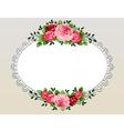 vintage roses bouquet frame vector image