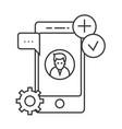 app development line icon sign vector image