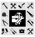 Carpenter tools black icons set vector image