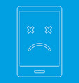 dead phone icon outline style vector image