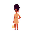 flat black african woman dissatisfied angry vector image