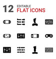 12 console icons vector image vector image