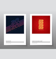 2020 set new year posters futuristic calendar vector image vector image