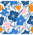 abstract flower garden seamless pattern vector image