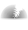 abstract logo semicircles with lines isolated vector image vector image