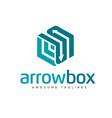 arrows box rectangle logo vector image