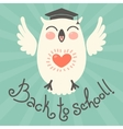 Back to school Card with an owl vector image vector image