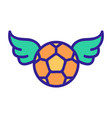 ball and wings football fan icon isolated vector image vector image